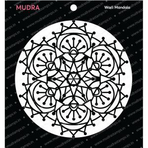 Craft Stencils - Warli Mandala 6x6 - Mudra
