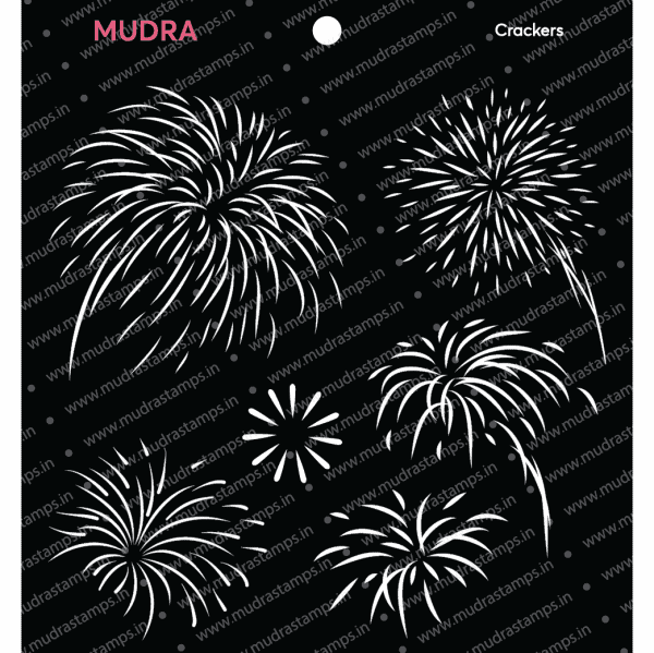 Craft Stencils - Crackers 6x6 - Mudra