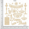 Chipzeb - Diwali - designer chipboard laser cut embellishment by Mudra