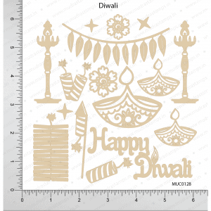 Chipzeb - Diwali - designer chipboard laser cut embellishment by Mudra