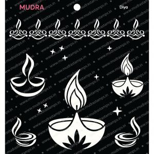 Craft Stencils - Diya 6x6 - Mudra