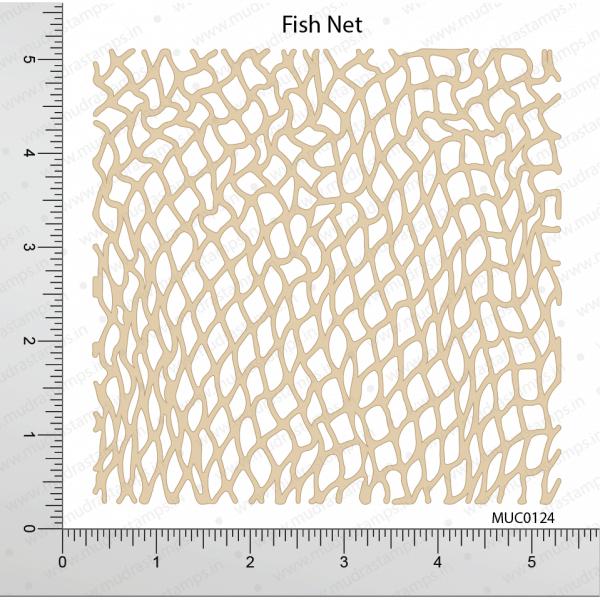 Chipzeb - Fish Net - designer chipboard laser cut embellishment by Mudra