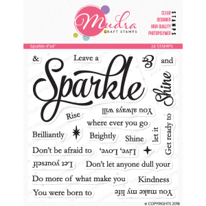 sparkle design photopolymer stamp for crafts, arts and DIY by Mudra