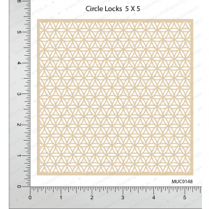 Chipzeb - Circle Locks - designer chipboard laser cut embellishment by Mudra