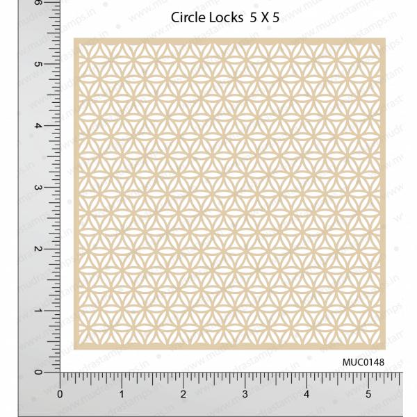 Chipzeb - Circle Locks - designer chipboard laser cut embellishment by Mudra