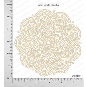 Chipzeb - Indian Ornate Mandala - designer chipboard laser cut embellishment by Mudra