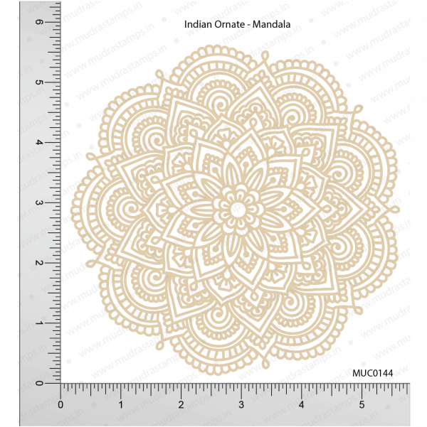 Chipzeb - Indian Ornate Mandala - designer chipboard laser cut embellishment by Mudra