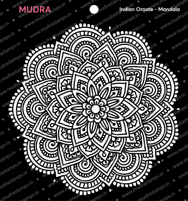 Craft Stencils - Indian Ornate Mandala 6x6 - Mudra