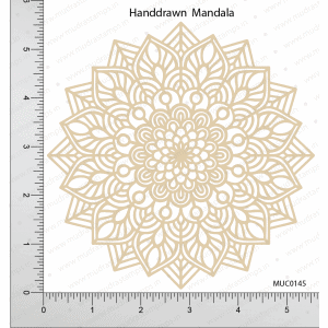 Chipzeb - Handdrawn Mandala - designer chipboard laser cut embellishment by Mudra