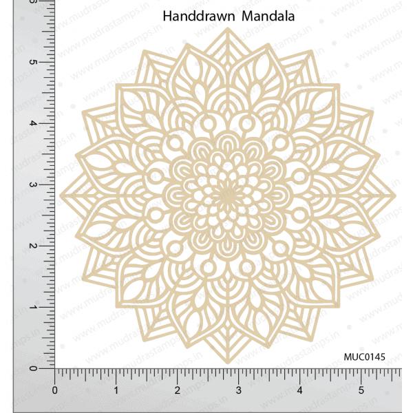 Chipzeb - Handdrawn Mandala - designer chipboard laser cut embellishment by Mudra