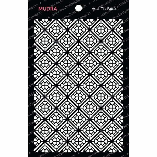 Craft Stencils - Asian Tile Pattern 6x4 - Mudra