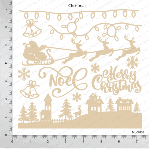 Chipzeb - Christmas - designer chipboard laser cut embellishment by Mudra