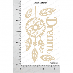 Chipzeb - Dream Catcher - designer chipboard laser cut embellishment by Mudra