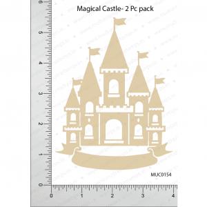 Chipzeb - Magical Castle - designer chipboard laser cut embellishment by Mudra