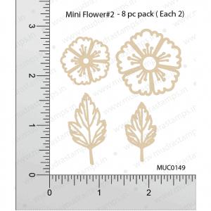 Chipzeb - Mini Flower #2 - designer chipboard laser cut embellishment by Mudra