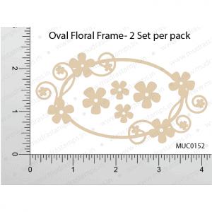 Chipzeb - Oval Floral Frame - designer chipboard laser cut embellishment by Mudra