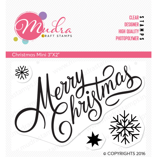 christmas mini design photopolymer stamp for crafts, arts and DIY by Mudra