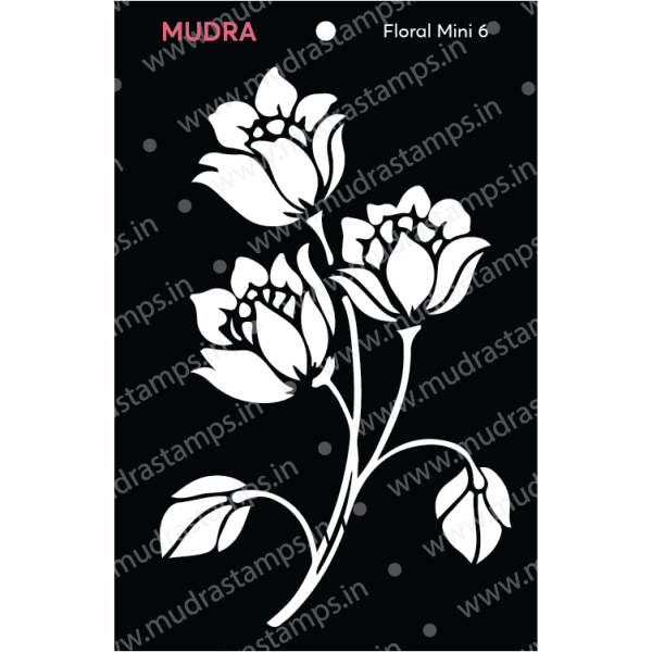 Craft Stencils - Floral Mini 6 3x4 - Mudra