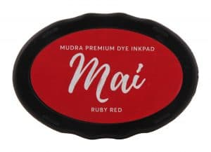 Stamping Dye Inkpad Mai - Ruby Red - Mudra