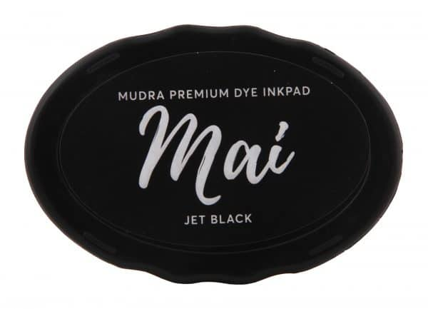 Stamping Dye Inkpad Mai - Jet Black - Mudra