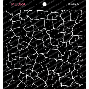 Craft Stencils - Crackle Fx 6x6 - Mudra