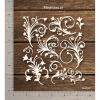 Chipzeb - Flourishes #1 - designer chipboard laser cut embellishment by Mudra