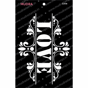Craft Stencils - Love 3x4 - Mudra