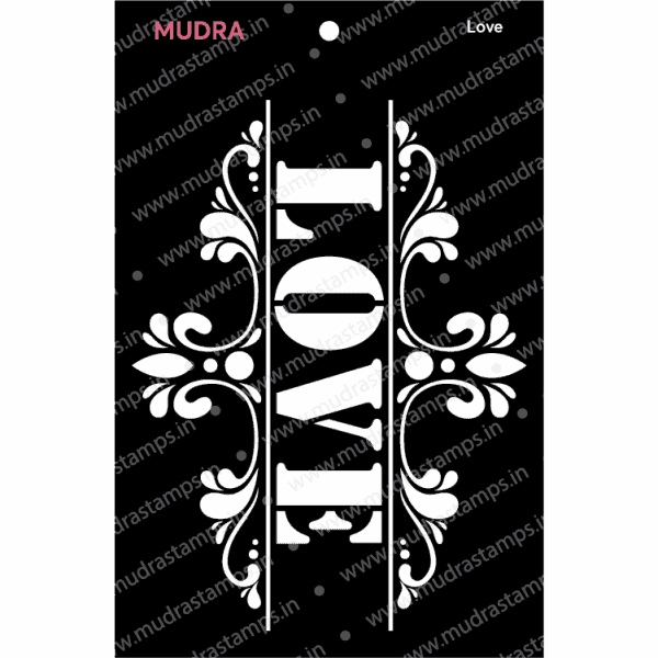Craft Stencils - Love 3x4 - Mudra