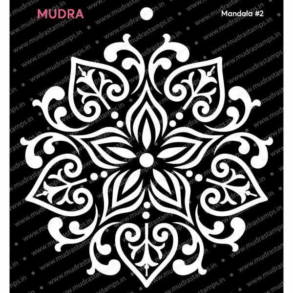 Craft Stencils - Mandala #2 6x6 - Mudra