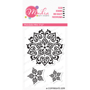 mandala mini design photopolymer stamp for crafts, arts and DIY by Mudra