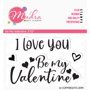 be my valentine design photopolymer stamp for crafts, arts and DIY by Mudra