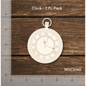 Chipzeb - Clock - designer chipboard laser cut embellishment by Mudra