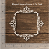Chipzeb - Elegant Square Frame - designer chipboard laser cut embellishment by Mudra