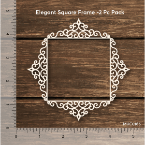 Chipzeb - Elegant Square Frame - designer chipboard laser cut embellishment by Mudra