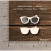 Chipzeb - Glasses Mini Shaker - designer chipboard laser cut embellishment by Mudra