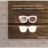 Chipzeb - Glasses Mini Shaker W/Hole - designer chipboard laser cut embellishment by Mudra