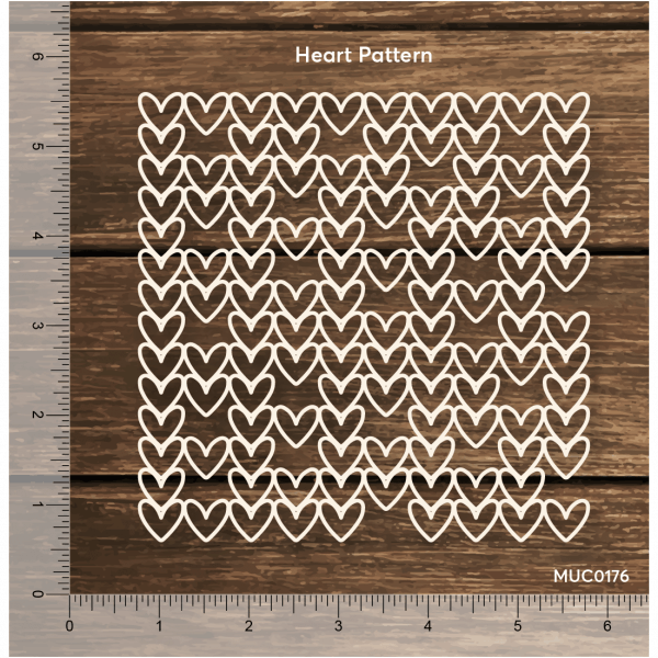 Chipzeb - Heart Pattern - designer chipboard laser cut embellishment by Mudra