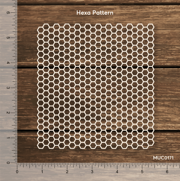 Chipzeb - Hexa - designer chipboard laser cut embellishment by Mudra