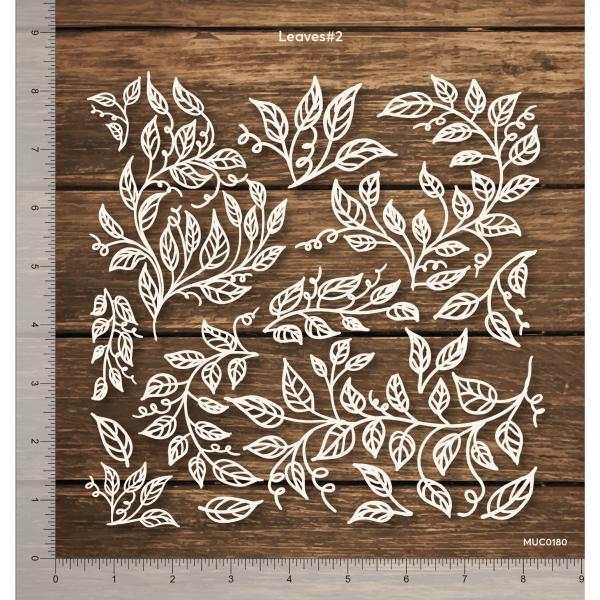 Chipzeb - Leaves #2 - designer chipboard laser cut embellishment by Mudra
