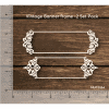 Chipzeb - Vintage Banner Frame - designer chipboard laser cut embellishment by Mudra