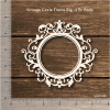 Chipzeb - Vintage Circle Frame Big - designer chipboard laser cut embellishment by Mudra