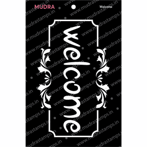 Craft Stencils - Welcome 3x4 - Mudra