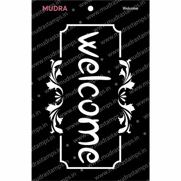 Craft Stencils - Welcome 3x4 - Mudra