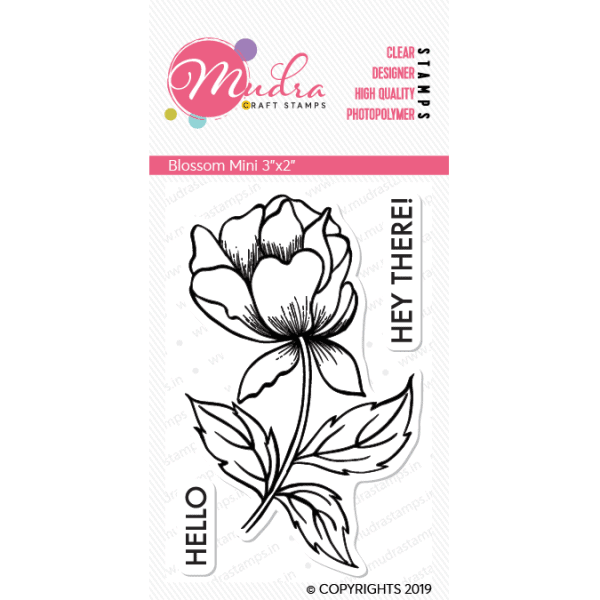 blossom mini design photopolymer stamp for crafts, arts and DIY by Mudra