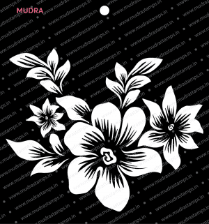 Craft Stencils - Floral Spray 6x6 - Mudra