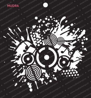 Craft Stencils - Grunge Music Effect 6x6 - Mudra