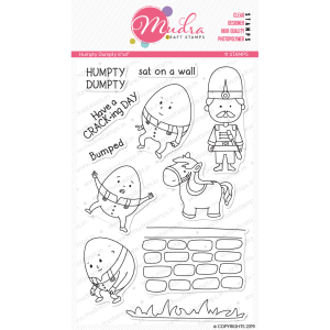 Humpty Dumpty design photopolymer stamp for crafts, arts and DIY by Mudra