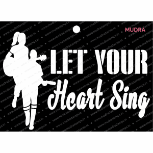 Craft Stencils - Lets Sing 6x4 - Mudra