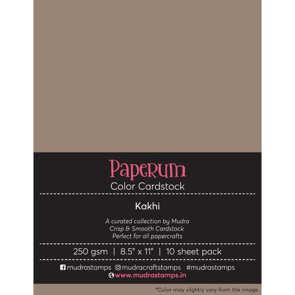 Kakhi Color Cardstock Paper board 250gsm 8.5x11 - Mudra Paperum