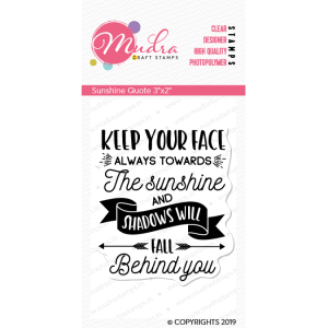 sunshine quote design photopolymer stamp for crafts, arts and DIY by Mudra